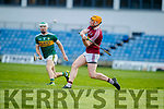 Paud Costello Kerry in action against Niall Mitchell Westmeath in the Allianz Hurling League 2A at Austin Stack Park on Sunday.
