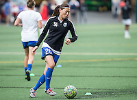 Seattle, WA - Saturday July 16, 2016: Rumi Utsugi prior to a regular season National Women's Soccer League (NWSL) match between the Seattle Reign FC and the Western New York Flash at Memorial Stadium.