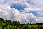 WATERBURY, CT. 17 July 2019-071719 - A line Cumulonimbus cloud forms over the rural area of Watertown on Wednesday. Thunderstorms, north, south, east, and west were all around the Waterbury area but nothing happened but a few showers. Bill Shettle Republican-American
