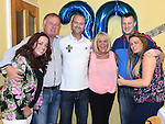 Podge Johnson celebrating his 30th birthday with girlfriend Jenny McManus and her family at a surprise party in his home. Photo:Colin Bell/pressphotos.ie