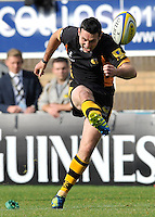 High Wycombe, England. Stephen Jones of London Wasps in action during the Aviva Premiership match between London Wasps and Worcester Warriors at Adam Park on October 7, 2012 in High Wycombe, England.