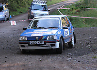 Ally Galbraith / Derek Galbraith at Junction 6, on Special Stage 1 Craigvinean in the Colin McRae Forest Stages Rally 2012, Round 8 of the RAC MSA Scotish Rally Championship which was organised by Coltness Car Club and based in Aberfeldy on 5.10.12.