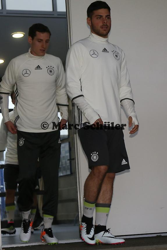 Kevin Volland und Sebastian Rudy - Training der Deutschen Nationalmannschaft, Wurfplatz Berlin