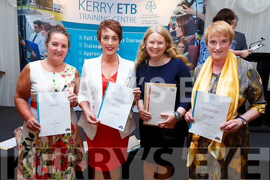 Elizabeth Brosnan, Elizabeth Ryle O'Connor, Anna Marie Flahive and Catherine Woods all graduating at the ETB Graduation ceremony in the Rose Hotel on Thursday evening.