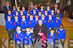 Pupils from CBS Primary School, Clounalour, Tralee, who were confirmed on Tuesday in St John's Church, Tralee, pictured front l-r: Jordan McCarthy, James Quilligan, Bishop Bill Murphy, Robert Jones and Thomas Ariyibi. Second row l-r: Owen Mason, Aaron O'Sullivan, John Hanafin, Sean Gannon, Cian Barden, Dean Scanlon, Donal Dillane and Lekan Adebayo. Third row l-r: Daniel Arefjeva, Noel Brassil, Daniel Malkowski, Richard Junior Bio, Rory Murphy, Damien Bourke, Eoin Cahill, Oisin O'Mahony and Daniel Coffey Molloy. Back l-r: Denis Coleman (principal) Jet Panagsagan, Jack Donoghue, Ian McCarthy, David Oba Elumelu, Pat Costello (teacher) Joseph Looby Lugandu, Cathal Murphy, Gary Clifford and Fr Sean Hanafin.