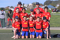 The Spain (North Otago) team poses for a team photo on day one of the 2019 Air NZ Rippa Rugby Championship at Wakefield Park in Wellington, New Zealand on Monday, 26 August 2019. Photo: Dave Lintott / lintottphoto.co.nz