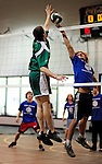 8 November 2009: Lake Region Union Rangers participate in the 2009 High School Volleyball State Championships hosted by Vermont Commons School at the Sports and Fitness Edge in South Burlington, Vermont. The Enosburg Falls Hornets successfully defended their boys' title while the VCS Flying Turtles rallied to maintain their girls' team crown. Mandatory Credit: Ed Wolfstein Photo