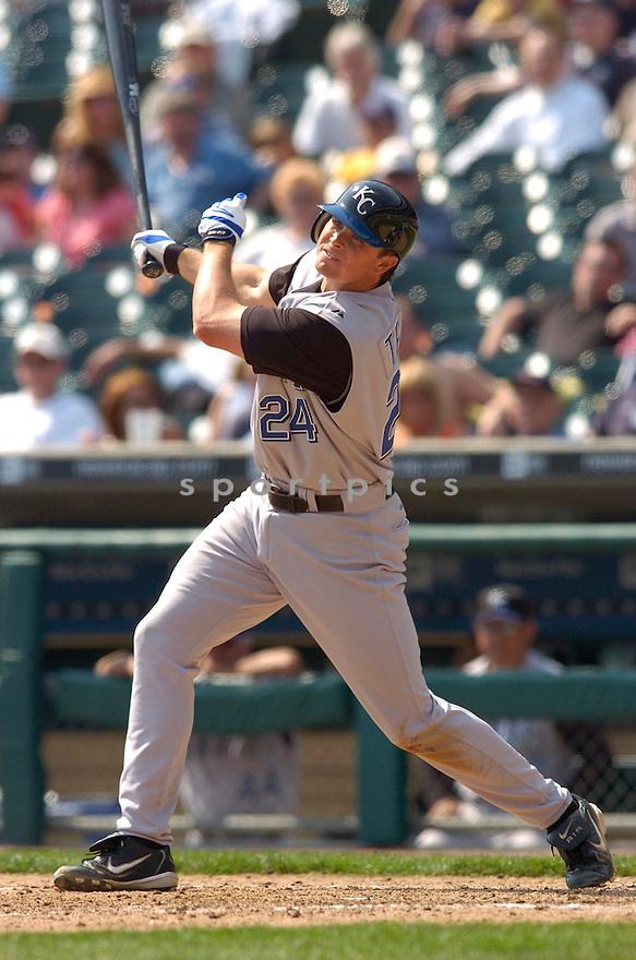Mark Teahen during the Kansas City Royals v. Detroit Tigers game on April 6, 2005...Royals win 7-2..Chris Bernacchi / SportPics