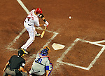 6 September 2011: Washington Nationals infielder Chris Marrero in action against the Los Angeles Dodgers at Nationals Park in Washington, District of Columbia. The Dodgers defeated the Nationals 7-3 to take the second game of their 4-game series. Mandatory Credit: Ed Wolfstein Photo