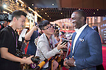 Dwight Yorke during the Red Carpet event at the World Celebrity Pro-Am 2016 Mission Hills China Golf Tournament on 20 October 2016, in Haikou, China. Photo by Weixiang Lim / Power Sport Images