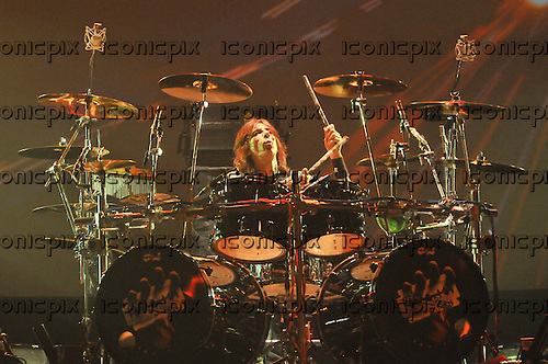 JUDAS PRIEST - drummer Scott Travis performing live on the last show of the Farewell Epitaph World Tour at the Apollo Hammersmith in London UK - 26 May 2012.  Photo credit: George Chin/IconicPix
