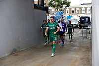 11th July 2020; The Kiyan Prince Foundation Stadium, London, England; English Championship Football, Queen Park Rangers versus Sheffield Wednesday; Tom Lees of Sheffield Wednesday leads his team mates onto the pitch from the away tunnel before kick off