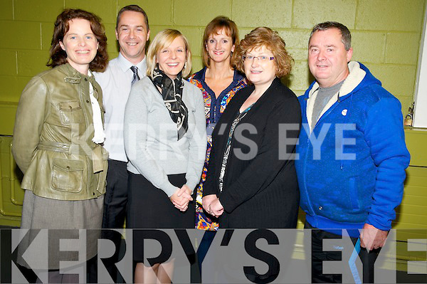 Fiona O'Brien principal Killarney Community College, pictured with Mike Lynch, Stella Loughnane, Carol Dempsey, Angela Brosnan and Tim Cotter at the Killarney Community College career evening on Thursday evening.............................................................................