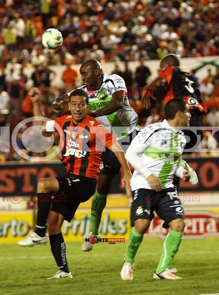 Santos vs Jaguares en el Juego de la jornada 9 del torneo Clausura 2013 de la Liga MX,estadio Victor Manuel Reyna,1 marzo 2013 en Tuxtla Gutierrez.<br /> ©/NortePhoto/Guillermo*Ramos*/NortePhoto