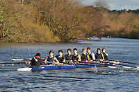 067 .RBL-Maden .NOV.8+ .Reading Blue Coat Sch. Wallingford Head of the River. Sunday 27 November 2011. 4250 metres upstream on the Thames from Moulsford railway bridge to Oxford Universitiy's Fleming Boathouse in Wallingford. Event run by Wallingford Rowing Club..