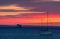 Rockland Harbor Breakwater Light, Rockland, Maine,  USA