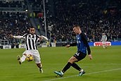 9th December 2017, Allianz Stadium, Turin, Italy; Serie A football, Juventus versus Inter Milan; Medhi Benatia challenges Ivan Perisic as he crosses the ball in the box