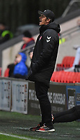 Fleetwood Town's Manager Joey Barton<br /> <br /> Photographer Dave Howarth/CameraSport<br /> <br /> Leasing.com Trophy Northern Section Round Three - Fleetwood Town v Accrington Stanley - Tuesday 7th January 2020 - Highbury Stadium - Fleetwood<br />  <br /> World Copyright © 2018 CameraSport. All rights reserved. 43 Linden Ave. Countesthorpe. Leicester. England. LE8 5PG - Tel: +44 (0) 116 277 4147 - admin@camerasport.com - www.camerasport.com