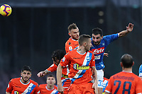 Raul Albiol of Napoli scores first goal for his side during the Serie A 2018/2019 football match between and SSC Napoli and Spal at stadio San Paolo, Napoli, December 22, 2018 <br />  Foto Cesare Purini / Insidefoto