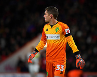 Michael McGovern of Norwich City during AFC Bournemouth vs Norwich City, Caraboa Cup Football at the Vitality Stadium on 30th October 2018