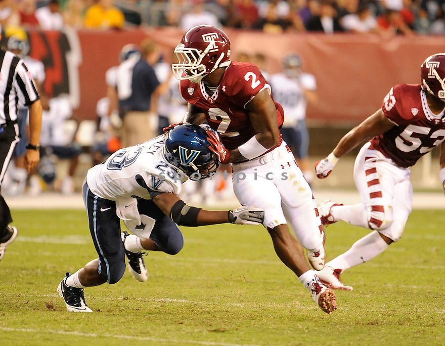 TAHIR WHITEHEAD, of the Temple Owls  in action during the Owls game against the Villanova Wildcats on September 1, 2011 at Lincoln Financial Field in Philadelphia, PA. Temple beat Villanova 42-7.