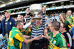 Stephen O'Brien celebrate after winning the 2014 All-Ireland Football Final against Donegal in Croke Park 2014.<br /> Photo: Don MacMonagle<br /> <br /> <br /> Photo: Don MacMonagle <br /> e: info@macmonagle.com