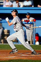 July 27, 2009:  Center Fielder Jordan Henry of the Mahoning Valley Scrappers during a game at Dwyer Stadium in Batavia, NY.  Mahoning Valley is the NY-Penn League Short-Season Class-A affiliate of the Cleveland Indians.  Photo By Mike Janes/Four Seam Images