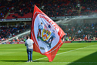 General View of a Barnsley flag<br /> <br /> Photographer Richard Martin-Roberts/CameraSport<br /> <br /> The EFL Sky Bet League One - Barnsley v Fleetwood Town - Saturday 13th April 2019 - Oakwell - Barnsley<br /> <br /> World Copyright &not;&copy; 2019 CameraSport. All rights reserved. 43 Linden Ave. Countesthorpe. Leicester. England. LE8 5PG - Tel: +44 (0) 116 277 4147 - admin@camerasport.com - www.camerasport.com