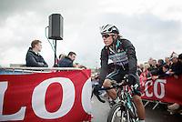 Rigoberto Uran (COL/OPQS) to the start podium<br /> <br /> Giro d'Italia 2014<br /> stage 3: Armagh (NI) - Dublin (IRL) 187km