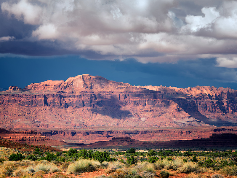 Mountains with storm clouds. Off Scenic Byway Hwy 95, Glen Canyon National Recreation Area, Utah