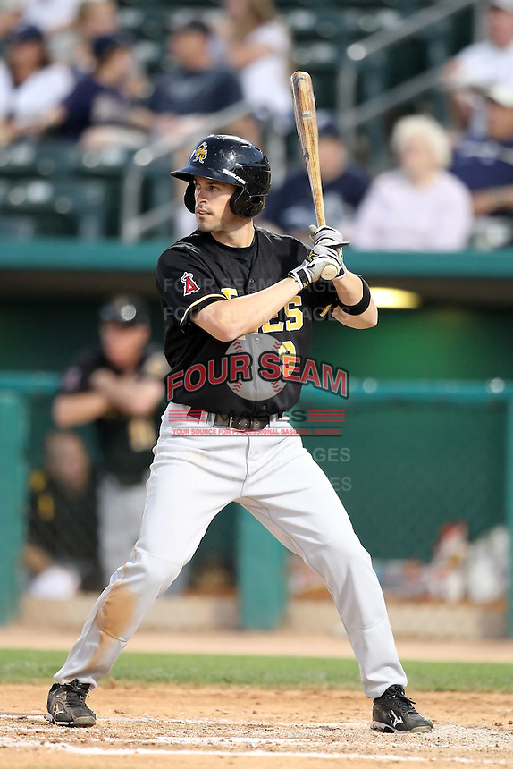 Kevin Melillo #9 of the Salt Lee Bees plays in a Pacific Coast League game against the Tucson Padres  at Kino Stadium on April 17, 2011  in Tucson, Arizona. .Photo by:  Bill Mitchell/Four Seam Images.