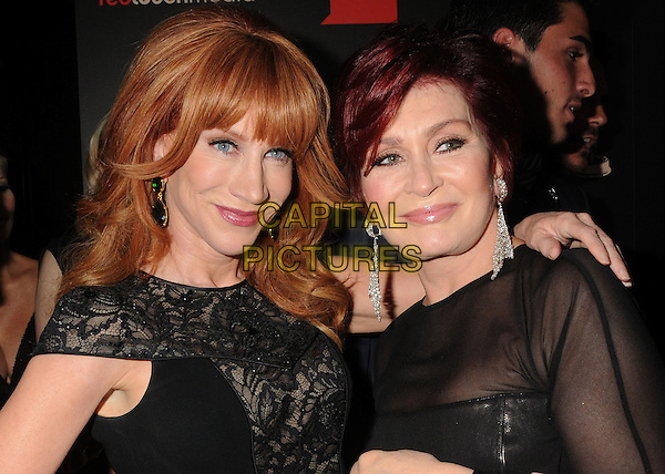 Kathy Griffin, Sharon Osbourne<br /> 40th Annual Daytime Emmy Awards - Arrivals held at the Beverly Hilton Hotel, everly Hills, California, USA.<br /> June 16th, 2013<br /> headshot portrait black lace sheer<br /> CAP/ADM/BP<br /> &copy;Byron Purvis/AdMedia/Capital Pictures