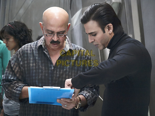 Rakesh Roshan (Director), Vivek Oberoi<br /> on the set of Krrish 3 (2013) <br /> (Defender)<br /> *Filmstill - Editorial Use Only*<br /> CAP/NFS<br /> Image supplied by Capital Pictures