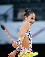 September 10, 2015 - Stuttgart, Germany - LAURA ZENG of USA performs during AA qualifications at 2015 World Championships.