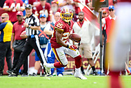 Landover, MD - September 16, 2018: Washington Redskins running back Chris Thompson (25) runs the football during game between the Indianapolis Colts and the Washington Redskins at FedEx Field in Landover, MD. The Colts defeated the Redskins 21-9.(Photo by Phillip Peters/Media Images International)