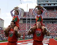 13 October 2007: Ohio State cheerleaders..The Ohio State Buckeyes defeated the Kent State Golden Flashes 48-3 on  October 13, 2007 at Ohio Stadium, Columbus, Ohio.