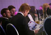 Picture by Allan McKenzie/SWpix.com - 05/10/17 - Cricket - Yorkshire County Cricket Club Gala Dinner 2017 - Elland Road, Leeds, England - Jonny Bairstow with programme.