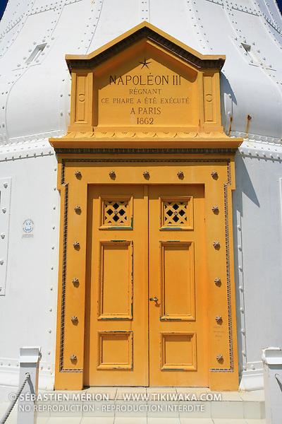 Porte d'entrée du Phare Amédée, îlot au large de Nouméa