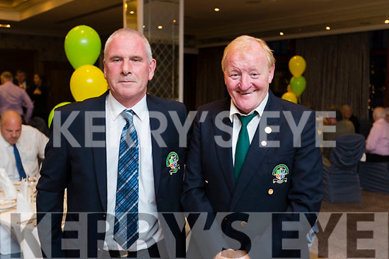 Willie O'Gorman and Michael Fox Connor, pictured at the 40th Anniversary meal of the Kerry Branch of the Irish Referee Society at The Rose Hotel, Tralee on Saturday evening last.