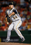 6 June 2007: Pittsburgh Pirates pitcher Josh Sharpless winds up on the mound against the Washington Nationals at RFK Stadium in Washington, DC. The Nationals defeated the Pirates 6-5 in the second game of their 3-game series...Mandatory Credit: Ed Wolfstein Photo