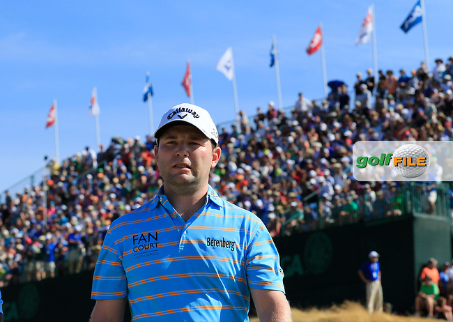 Branden GRACE (RSA) walks off the 9th green during Saturday's Round 3 of the 2015 U.S. Open 115th National Championship held at Chambers Bay, Seattle, Washington, USA. 6/21/2015.<br /> Picture: Golffile | Eoin Clarke<br /> <br /> <br /> <br /> <br /> All photo usage must carry mandatory copyright credit (&copy; Golffile | Eoin Clarke)