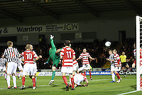Lee Mair hidden heads a late winner in the St Mirren v Hamilton Academical Scottish Communities League Cup match played at St Mirren Park, Paisley on 25.9.12.