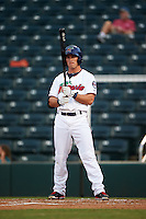 Fort Myers Miracle third baseman Logan Wade (4) at bat during a game against the Brevard County Manatees on April 13, 2016 at Hammond Stadium in Fort Myers, Florida.  Fort Myers defeated Brevard County 3-0.  (Mike Janes/Four Seam Images)