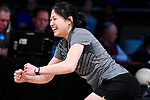 CLAYTON, MO - APRIL 14: Kristin Quah #27 of Vanderbilt University reacts after scoring during the Division I Women's Bowling Championship held at Tropicana Lanes on April 14, 2018 in Clayton, Missouri. Vanderbilt University defeated McKendree University 4-3. (Photo by Tim Nwachukwu/NCAA Photos via Getty Images)