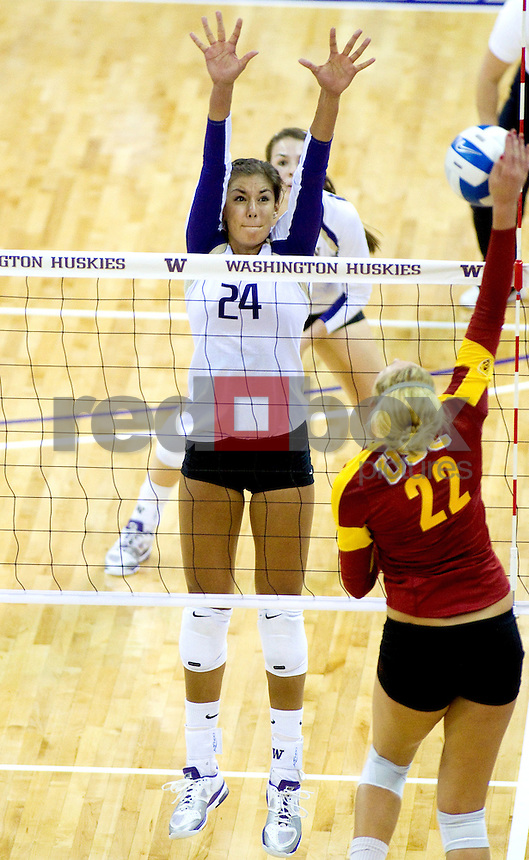 Kylin Muñoz. The University of Washington women's volleyball team plays USC Trojans at Alaska Airlines Arena at the University of Washington in Seattle on Friday September 16, 2011. (Photography By Scott Eklund/Red Box Pictures)