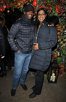Adrian Lester and Lolita Chakrabarti at the Ivy Chelsea Garden's Guy Fawkes party, The Ivy Chelsea Garden, King's Road, London, England, UK, on Sunday 04 November 2018.<br /> CAP/CAN<br /> &copy;CAN/Capital Pictures