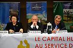 "DJERBA - TUNISIA - 13 March 2012 -- European Training Foundation (ETF) / Tunisian Ministry of Vocational Training and Employment (MFPE) Project Launch -  ""Human Capital for Regional Socio-Economic Development (Medenine, Tunisia)"". --  (L) Madlen SERBAN, ETF Director; (C) Luc VANDENBRANDE, Comite Civex; (R) Abdelaziz HALLEB, UTICA nationale. -- PHOTO: Lindsay MACKENZIE / EUP-IMAGES."