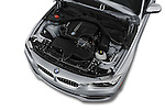 Car Stock 2017 BMW 3-Series 320i 4 Door Sedan Engine  high angle detail view