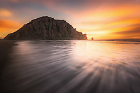 Morro Rock at Sunset in Morro Bay California