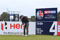 Paul Dunne (IRL) on the 4th tee during Round 1 of the Betfred British Masters 2019 at Hillside Golf Club, Southport, Lancashire, England. 09/05/19<br /> <br /> Picture: Thos Caffrey / Golffile<br /> <br /> All photos usage must carry mandatory copyright credit (© Golffile | Thos Caffrey)